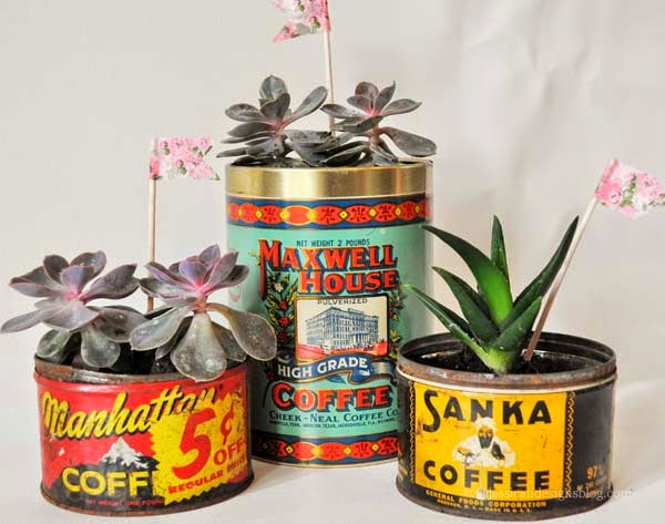 jessicandesigns Vintage Coffee Can Planter DIY
