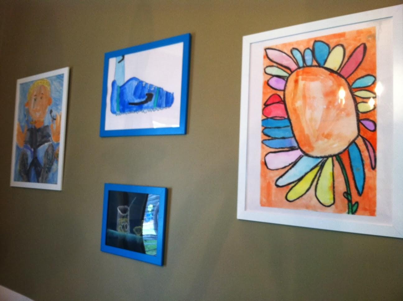 EtsyKids: Hang It Up! Displaying Children\'s Art