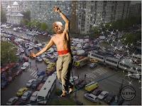 Funny photo Sorin Oprescu Autostrada suspendată