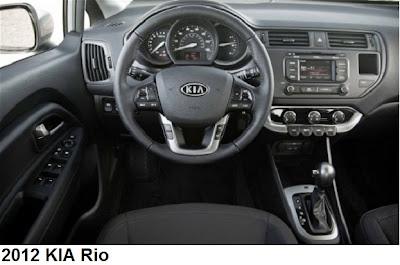 Kia Rio dashboard