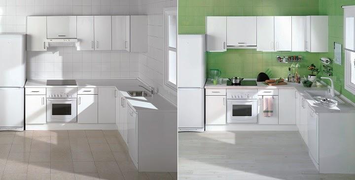 Marzua renovar la cocina con pintura - Pintura de azulejos cocina ...