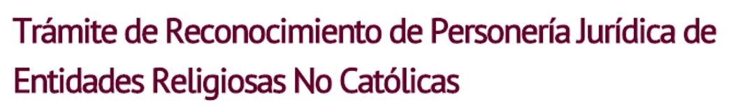 Registro Público de Entidades Religiosas