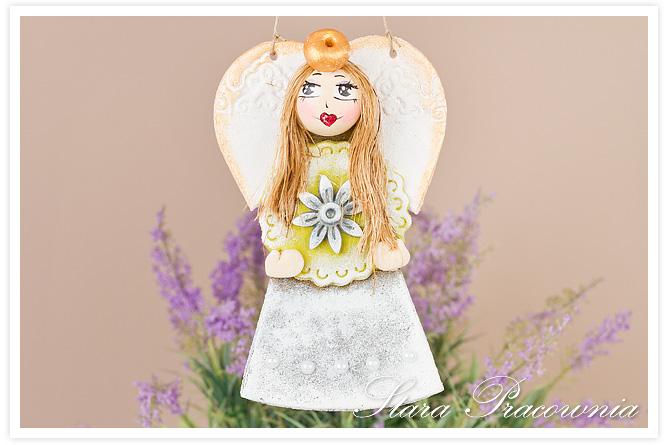 anioł z masy solnej, salt dough craft, masa solna