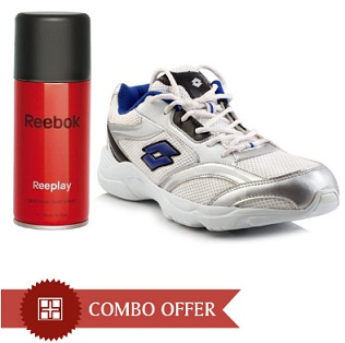 Get 20% Extra Discount on Combo of Lotto Sports Shoes & Reebok Deodorant for Rs.855 Only