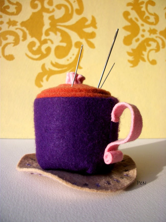 Pumps and Needles: teacup pincushion