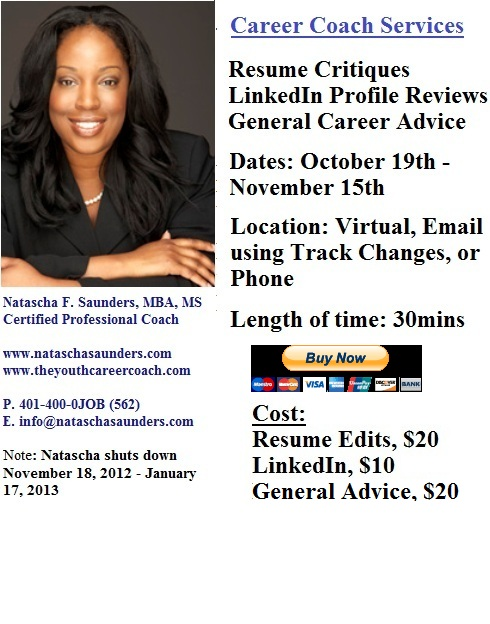 The Youth Career Coach Inc October 2012