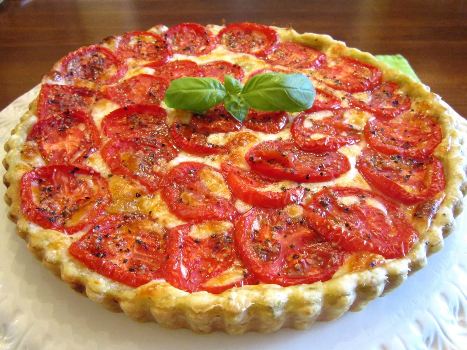 The Italian Next Door: Fresh Tomato Tart with Basil-Garlic ...