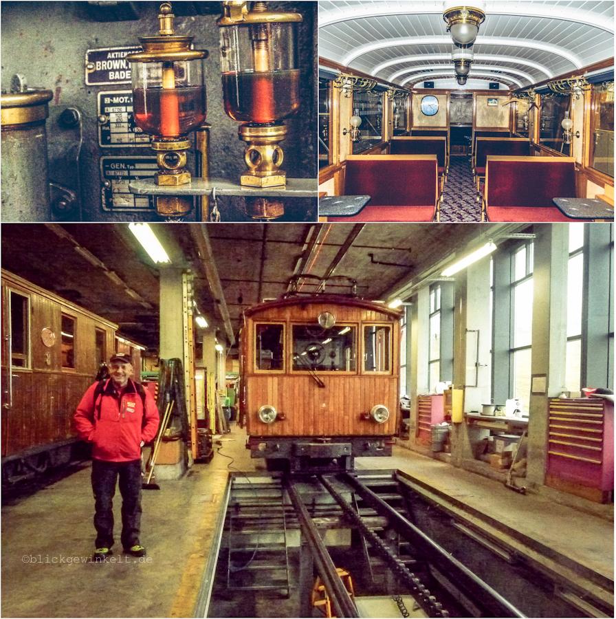Nostalgische Züge der Jungfraubahnen