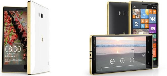 Microsoft Announces Availability Lumia 930 and Lumia 830 Gold Edition