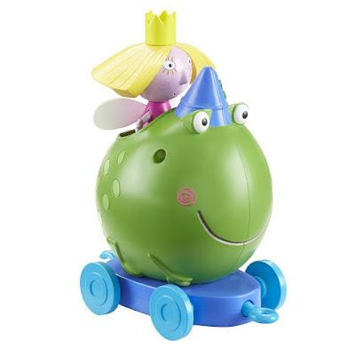 TOYS : JUGUETES - BEN & HOLLY  Ben Frog Push-Along | Vehículo + Figura - Muñeco  Producto Oficial Serie Televisión 2015 | Bizak 64005301  A partir de 3 años | Comprar en Amazon España