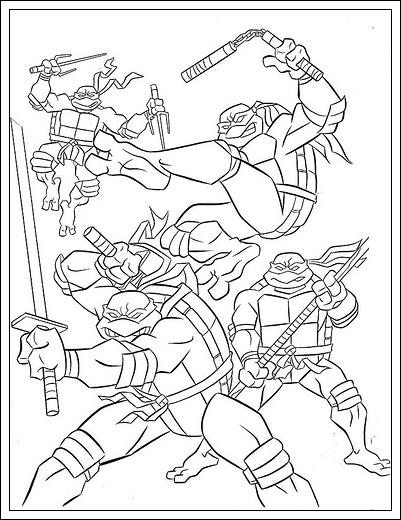 Ausmalbilder Ninja Turtles Zum Drucken