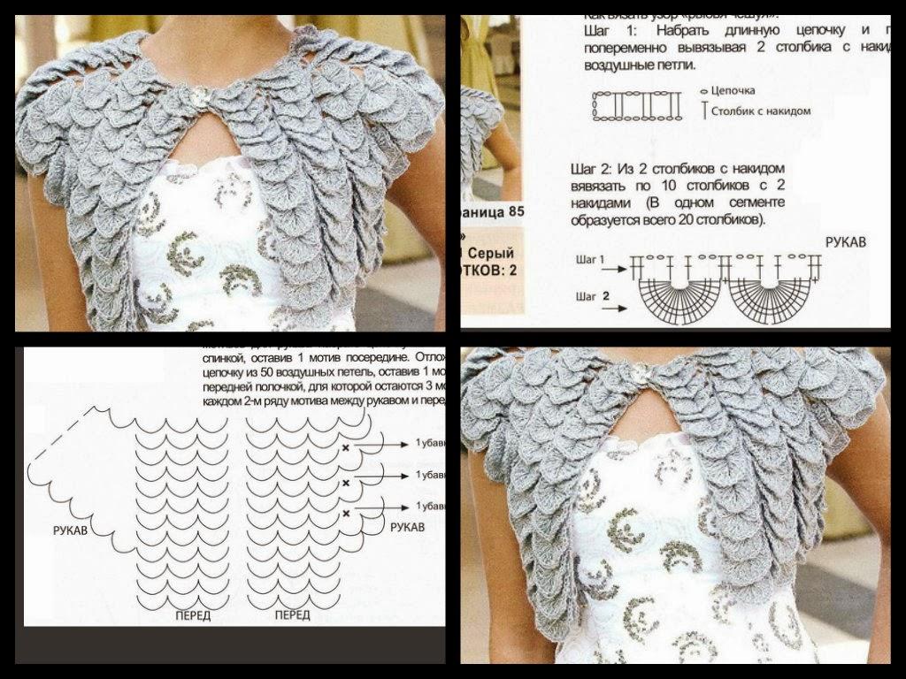 CROCHETBUTTERFLY: Crocodile Crochet Bolero Pattern