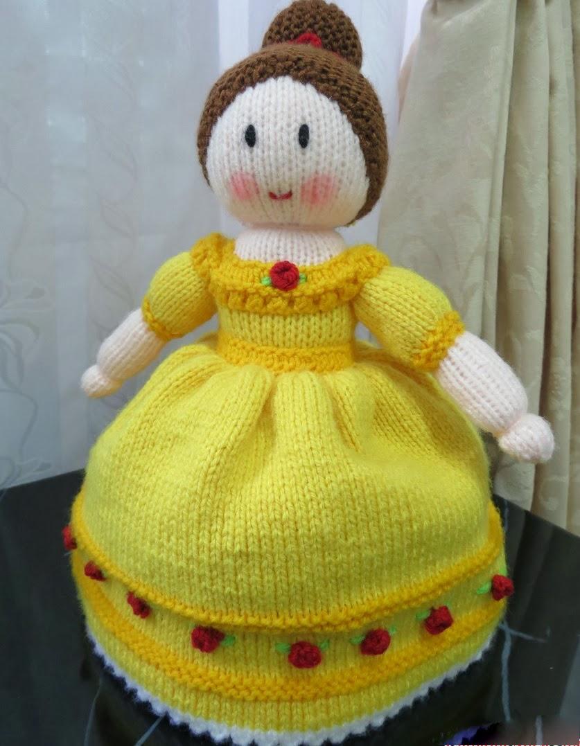 вязанная кукла перевертыш