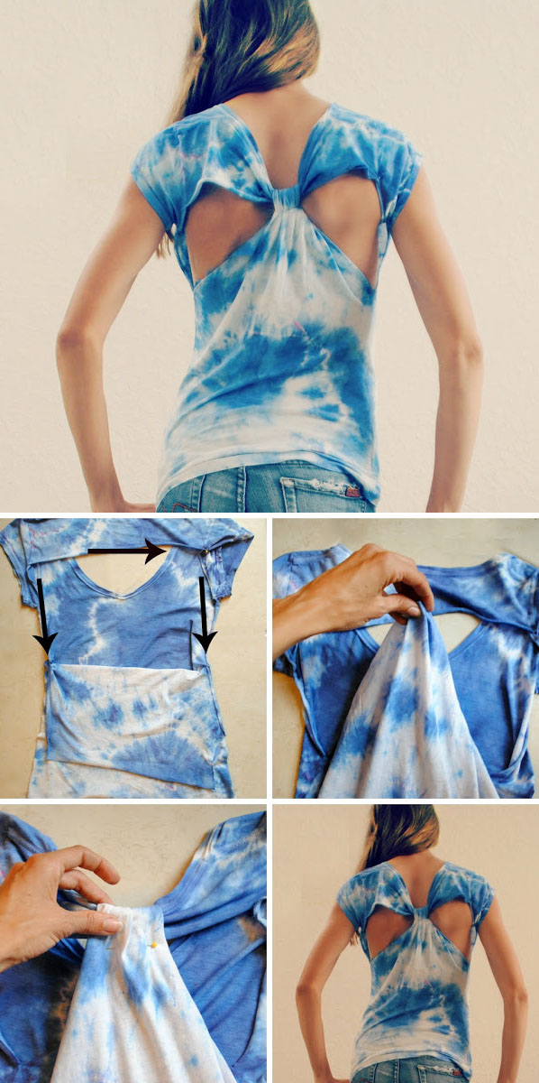 Diy : Cut Out Back T-Shirt