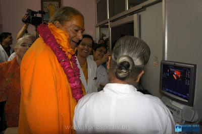 Jagadguru Kripaluji Maharaj inaugurates new hospital equipment at JKP Hospitals Mangarh