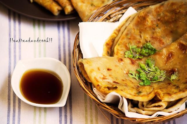 simple aloo fulkopi paratha recipe