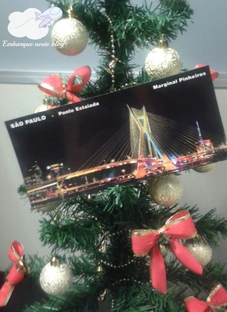 Viajante Secreto 2015, cartão-postal, São Paulo, Amigo Secreto, Natal