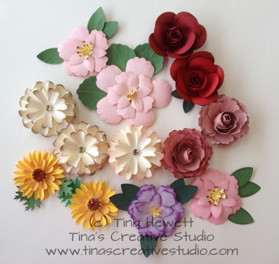 Tinas creative studio a bunch of paper flowers ive been busy in my studio lately running classes on making paper flowers using a few tools and punches and dies heres a photo of the flowers ive been mightylinksfo