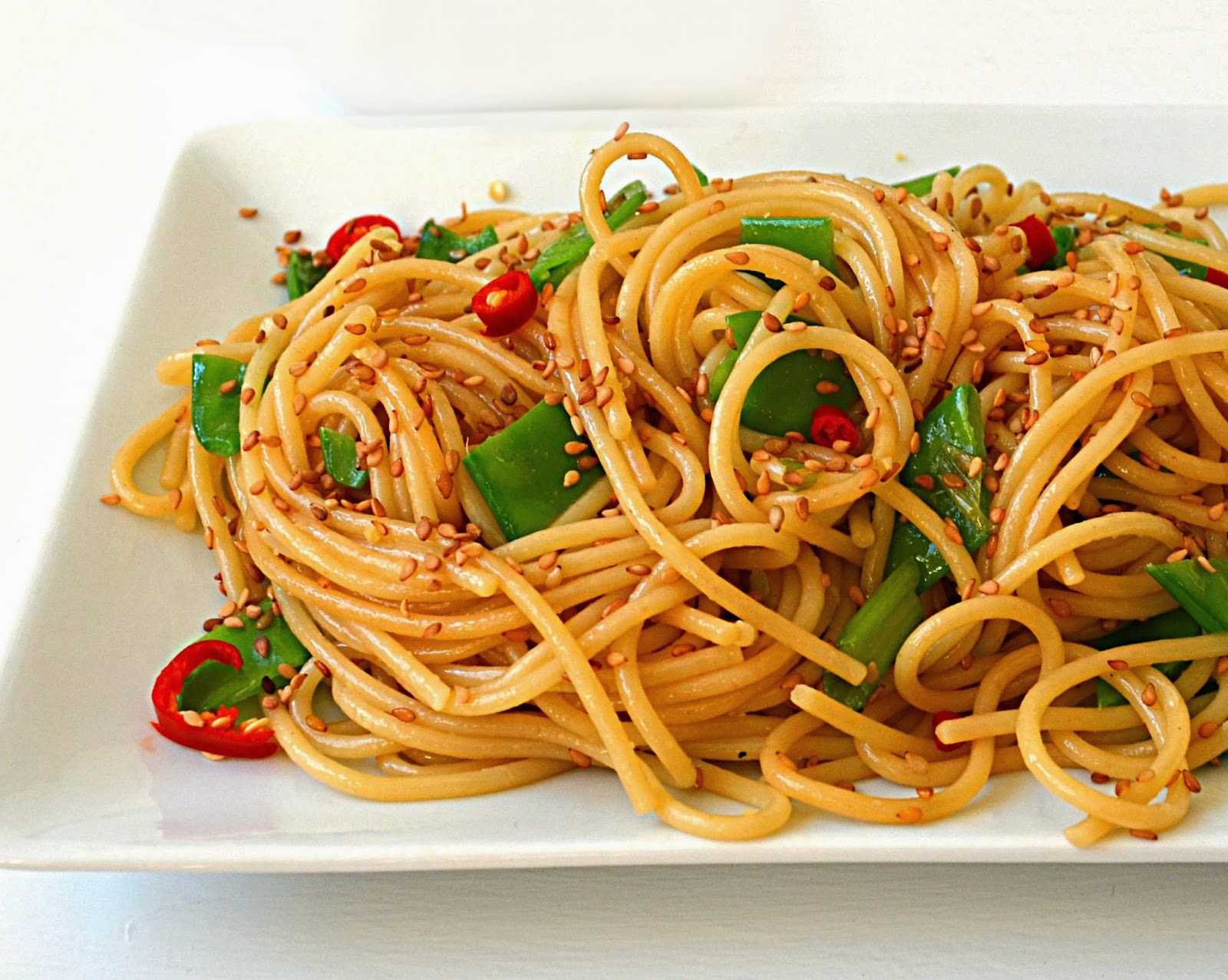 Sew French: Easy Sesame Noodles