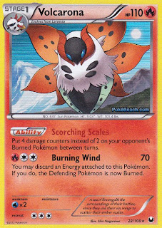 Volcarona Dark Explorers Pokemon Card