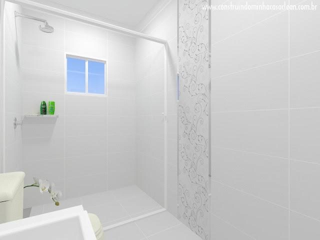 Construindo Minha Casa Clean Projeto do Banheiro Social! -> Banheiros Sociais Modernos