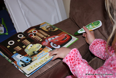 Cars 2 puzzles on the Leapfrog Tag