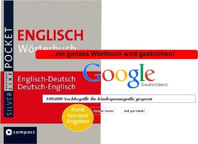 Bildquelle: politikprofiler.blogspot.de - 100.000 englische Suchbegriffe von Google geblockt - Ein ganzes Wörterbuch