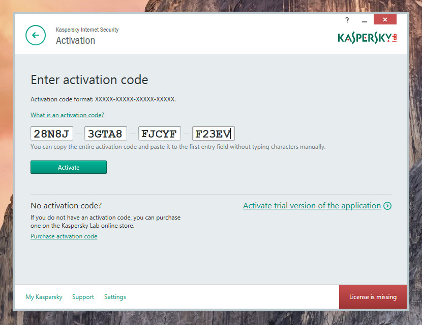 Kaspersky Antivirus 2016 Activation Code
