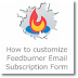 7 ways to Customize Feedburner Email Subscription form completely