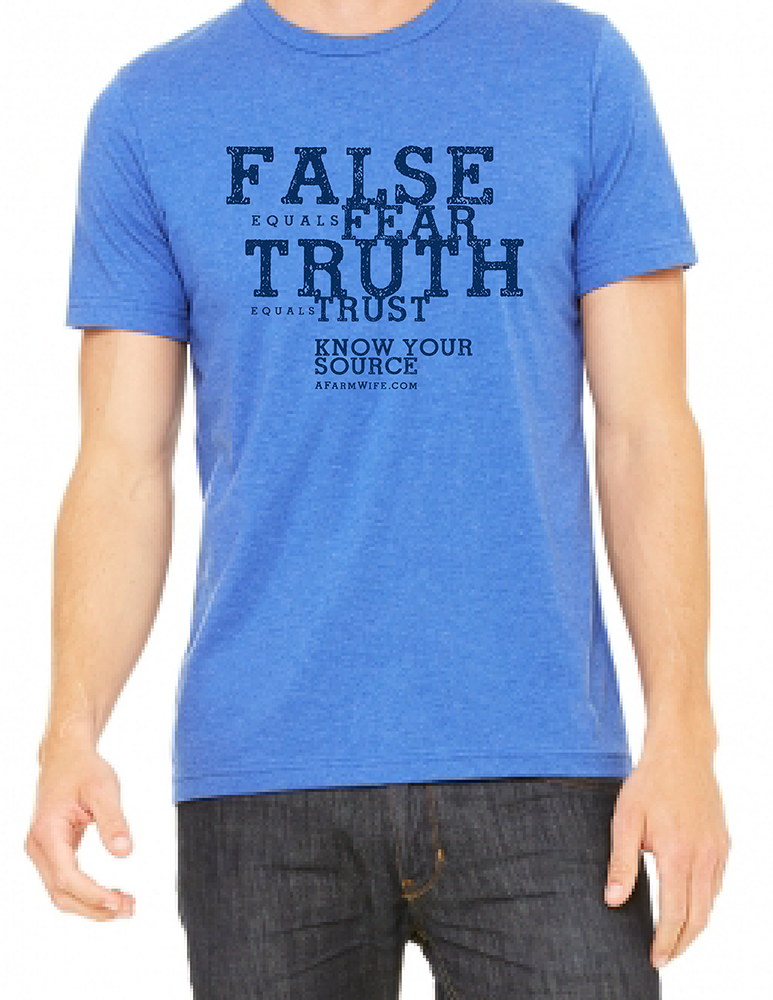 BRAND NEW PRE-ORDER False = Fear, Truth = Trust Know Your Source