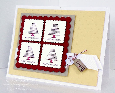 Pretty Postage rubber stamp by Stampin' Up!