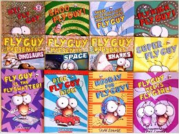 Fly Guy book series is a perfect early reader/beginning reading chapter books.  There are fun and humorous fiction books with large text, short chapters, and fun pictures.  The non-fiction books are fantastic with real pictures and illustrations.  Kids, boys and girls alike, LOVE these books.   Alohamora Open a Book http://www.alohamoraopenabook.blogspot.com/ easy, fast/quick reads, for kids just learning how to read, preschool, toddlers, kindergarten, 1st grade, 2nd grade
