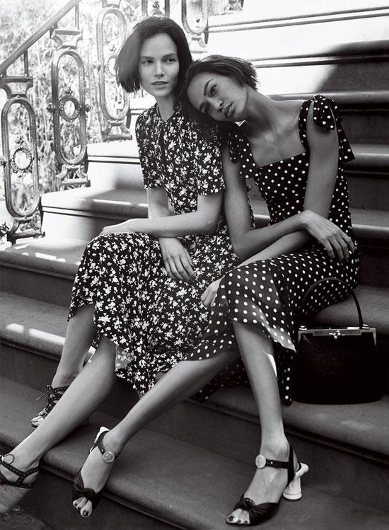 Suvi Koponen in Michael Kors & Joan Smalls in Dolce&Gabbana   Vogue US January 2014 (photography: Craig McDean, styling: Grace Coddington)