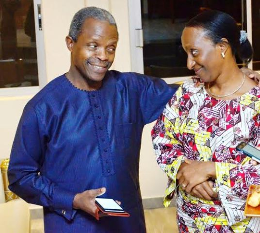 Caption This Photo Of VP Osinbajo And His Wife( Photo)