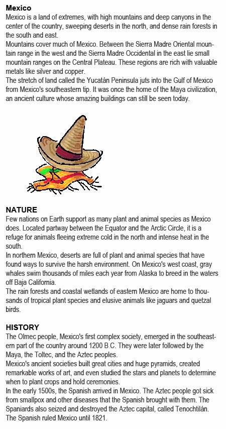 Mexico facts for kids