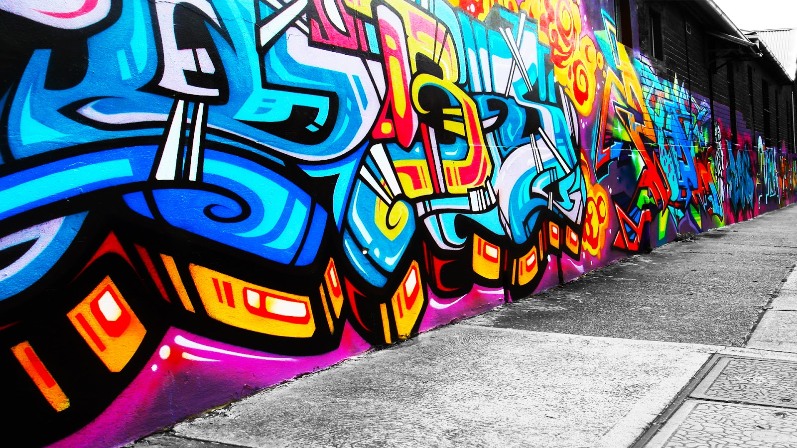 Graffiti wall art best graffitianz for Best paint for a wall mural