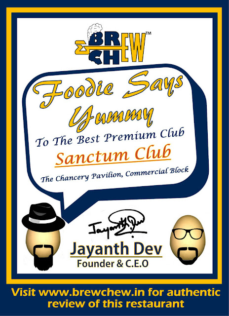 Sanctum Club Foodie Brew Chew Award, Best Party Place