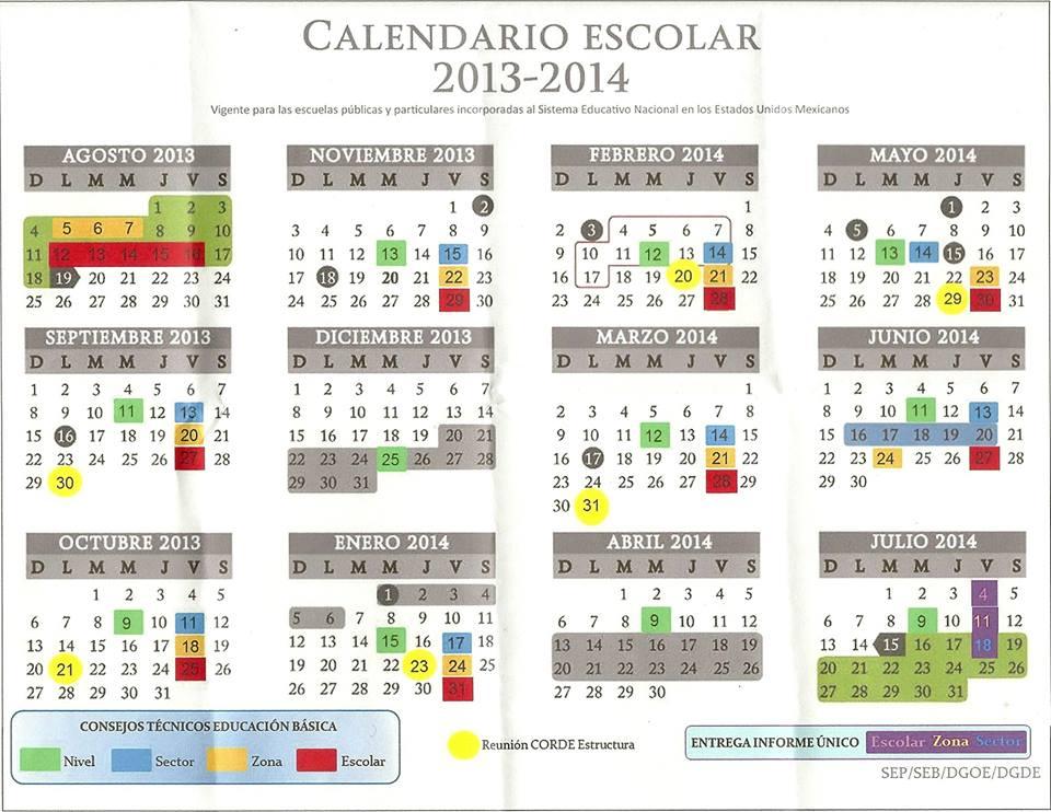 calendario escolar 2016 2017 calendario escolar 2013 2014 calendario ...