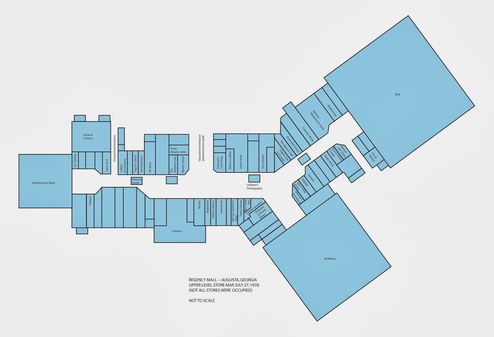 Sky City Southern And MidAtlantic Retail History Regency Mall - Map of georgia mall