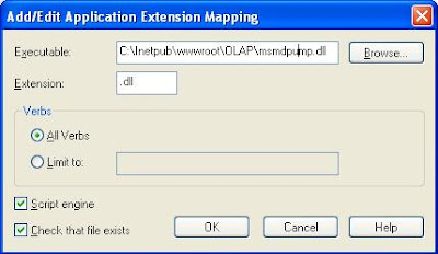 That dialog box give msmdpump dll file path and in extension give dll