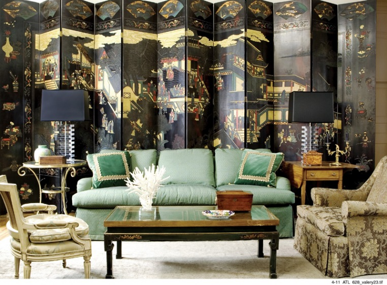 Chinoiserie chic the green chinoiserie living room