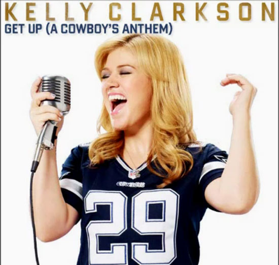 "Free Music] Kelly Clarkson ""Get Up (A Cowboy's Anthem)"""