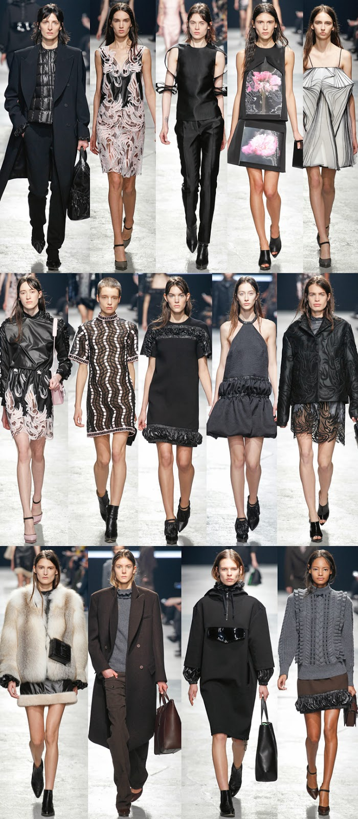 Christopher Kane fall winter 2014 runway collection, FW14, AW14, LFW, London fashion week