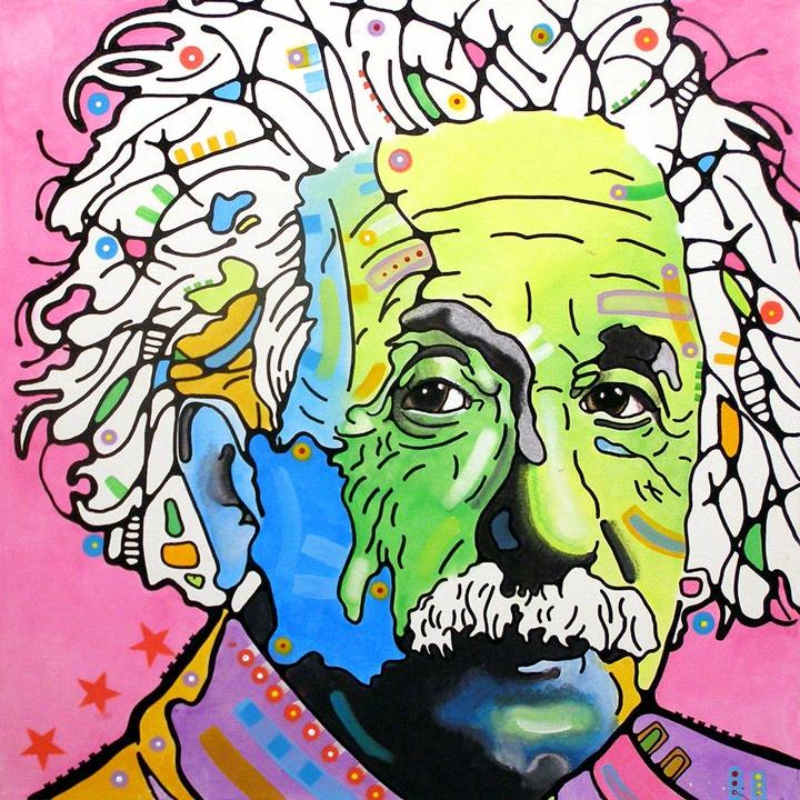 Dean Russo - Pop Portrait painter | Albert Einstein 1879-1955