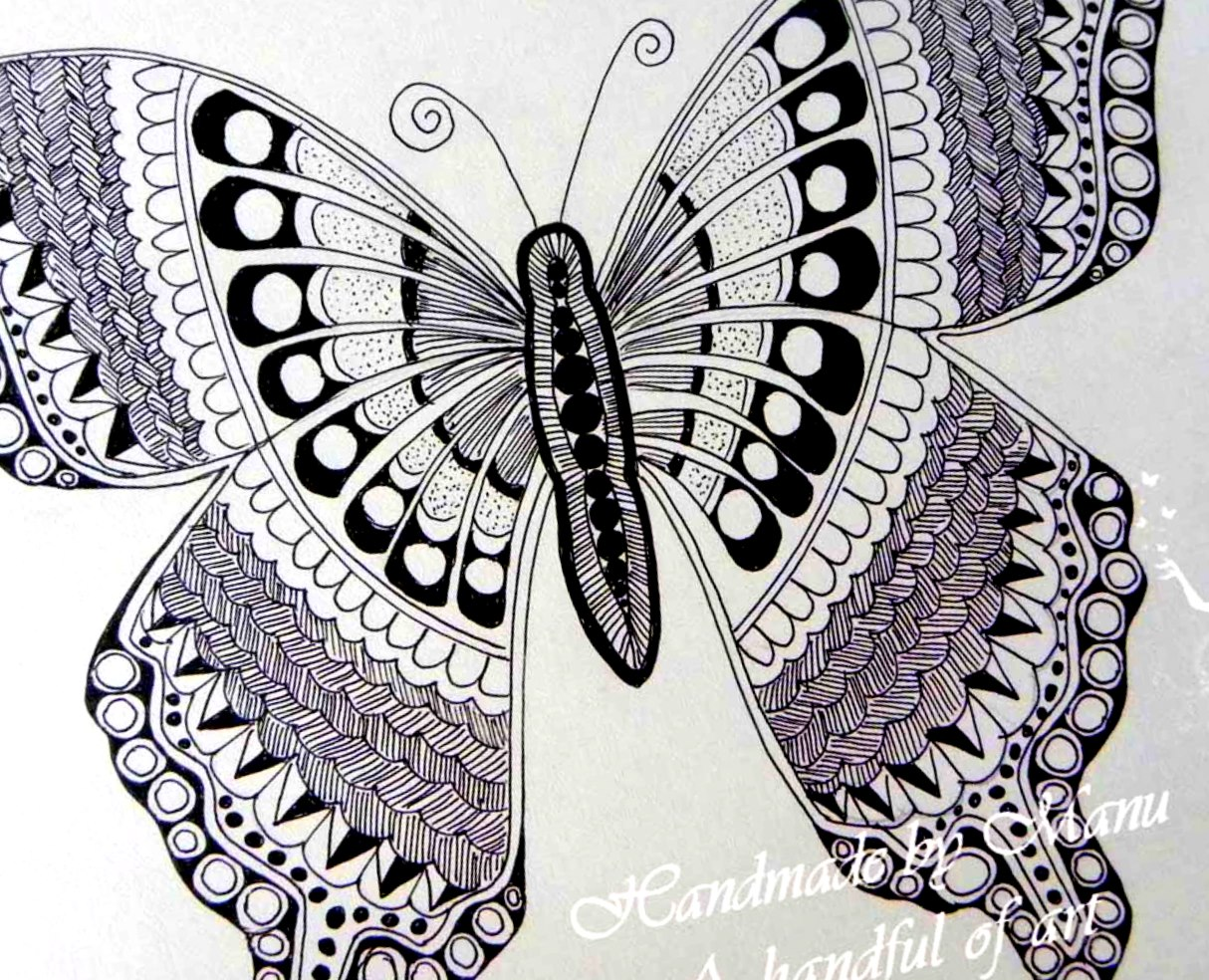 hope you liked it    it s an pleasant site seeing a butterfly since    Zentangles Butterfly