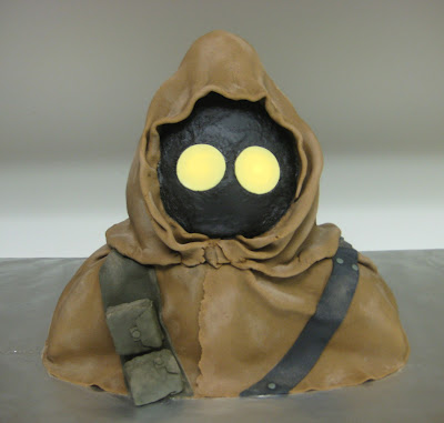 Star Wars 3D Jawa Cake with Glowing Eyes 3