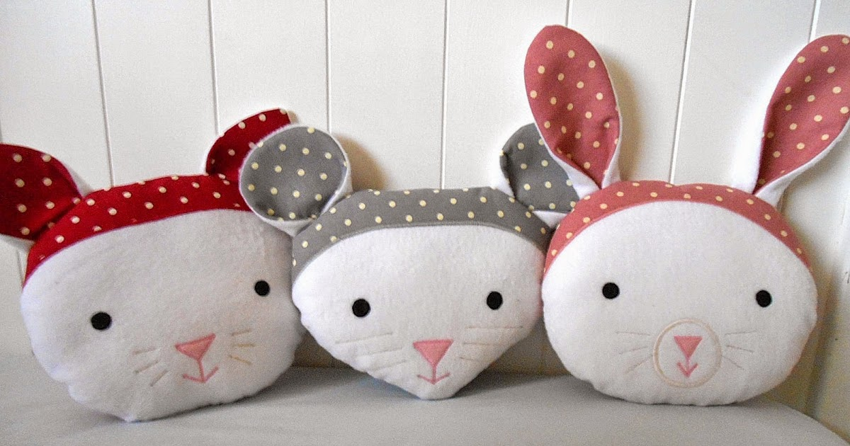 handmade by eva rose: Sweet Animal Faces Pillows for Nursery