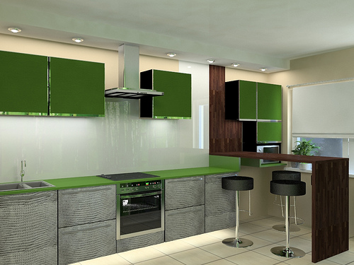home design green kitchen design ideas