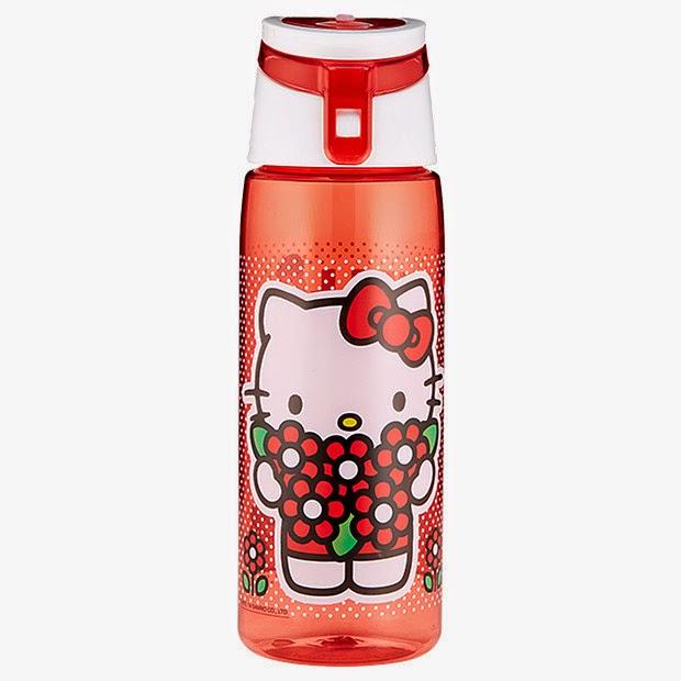 Gambar botol minum hello kitty warna merah
