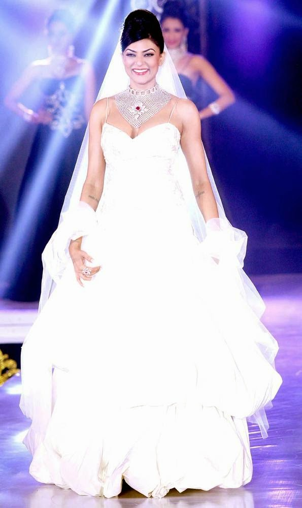Sushmita Sen in white dress